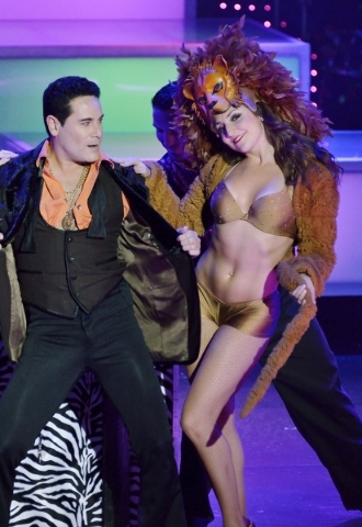 David Villella and Marissa Magnuson perform in ìVegas! the Showî at the Saxe Theater in the Miracle Mile Shops at the Planet Hollywood hotel-casino at 3667 Las Vegas Blvd. South in Las Vegas ...