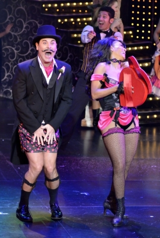David Villella and Reva Rice perform in ìVegas! the Showî at the Saxe Theater in the Miracle Mile Shops at the Planet Hollywood hotel-casino at 3667 Las Vegas Blvd. South in Las Vegas on Thu ...