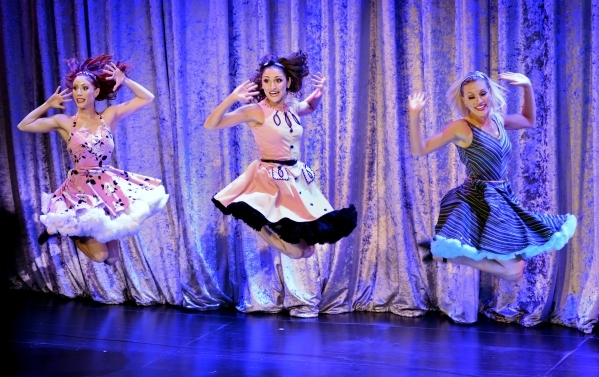 Megan Melville, left, Marissa Magnuson, center, and Heather Waldbart perform in ìVegas! the Showî at the Saxe Theater in the Miracle Mile Shops at the Planet Hollywood hotel-casino at 3667 L ...