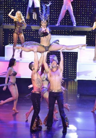 Michelle DiTerlizzi performs with fellow cast members from ìVegas! the Showî at the Saxe Theater in the Miracle Mile Shops at the Planet Hollywood hotel-casino at 3667 Las Vegas Blvd. South  ...
