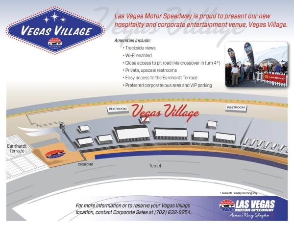 A rendering shows plans on Turn 4 at the Las Vegas Motor Speedway for luxury accommodations that are part of the Vegas Veranda project. Courtesy, Las Vegas Motor Speedway
