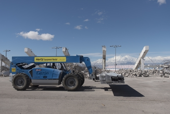 """Construction for the new VIP hospitality site called """"Vegas Village"""" is shown at Las Vegas Motor Speedway in Las Vegas Tuesday, Oct. 6, 2015. Jason Ogulnik/Las Vegas Review-Journal"""