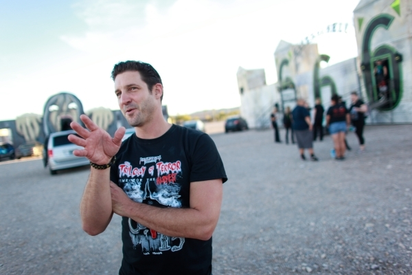J.T. Mollner, whose family runs Freakling Bros., speaks about the Trilogy of Terror haunted houses, 4245 S. Grand Canyon Drive, in Las Vegas on Wednesday, Oct. 7, 2015. Chase Stevens/Las Vegas Rev ...