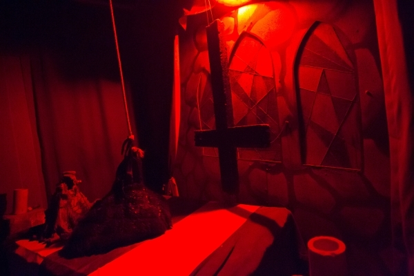 "Details inside of the the ""Gates of Hell"" haunted house, one of the Trilogy of Terror haunted houses run by Freakling Bros., are shown at 4245 S. Grand Canyon Drive, in Las Vegas on Frid ..."