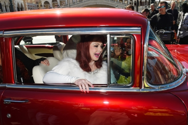 Naomi Judd leaves in a 1957 Chevy after an appearance at the Venetian to publicize The Judds' nine-show residency Tuesday, Oct. 6, 2015. Sam Morris/Las Vegas News Bureau
