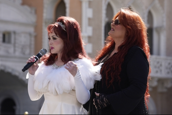 Naomi and Wynonna Judd speak after arriving at the Venetian to publicize their nine-show residency Tuesday, Oct. 6, 2015. Sam Morris/Las Vegas News Bureau