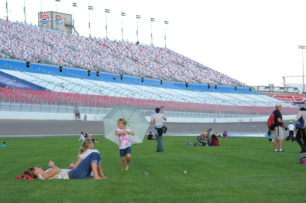 Race goers enjoy the grass infield during the Red Bull Air Race World Championship Series race at the Las Vegas Motor Speedway on Saturday, Oct. 17, 2015. Brett LeBlanc/Las Vegas Review-Journal Fo ...