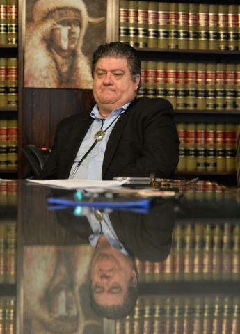 Judy Donatell, not pictured, and her lawyer Cal Potter speak about the death Donatell's 37-year-old daughter, Angela Donatell, on Friday, Oct. 9, 2015 during an interview with the Review-Jou ...