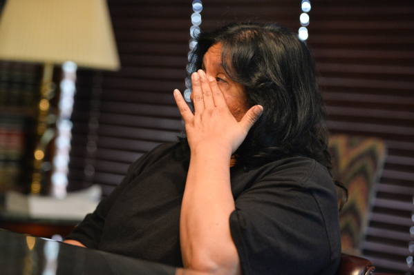 Judy Donatell talks about the death of her 37-year-old daughter, Angela Donatell, on Friday, Oct. 9, 2015 during an interview with the Review-Journal. (Brett LeBlanc/Las Vegas Review-Journal)