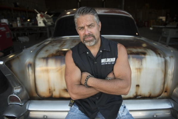 Star of the television show Vegas Rat Rods Steve Darnell poses with his 1954 Chevy 210 at Welderup in Las Vegas Monday, Oct. 10, 2015. Jason Ogulnik/Las Vegas Review-Journal