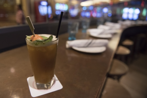 A Peter Rabbit cocktail is shown at Searsucker at Caesars Palace in Las Vegas Saturday, Oct. 10, 2015. Jason Ogulnik/Las Vegas Review-Journal