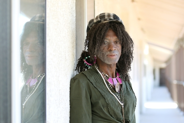 Michael Sumling poses outside his transition apartment at The Salvation Army Tuesday, Oct. 13, 2015, in Las Vegas. Sumling spent three months in a Safety Dorm on campus prior to getting his own ap ...