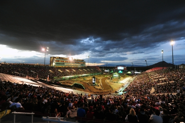 Sam Boyd Stadium is seen before the start of the main event of the Monster Energy Cup at Sam Boyd Stadium in Henderson Sarturday, Oct. 17, 2015. Josh Holmberg/Las Vegas News Bureau