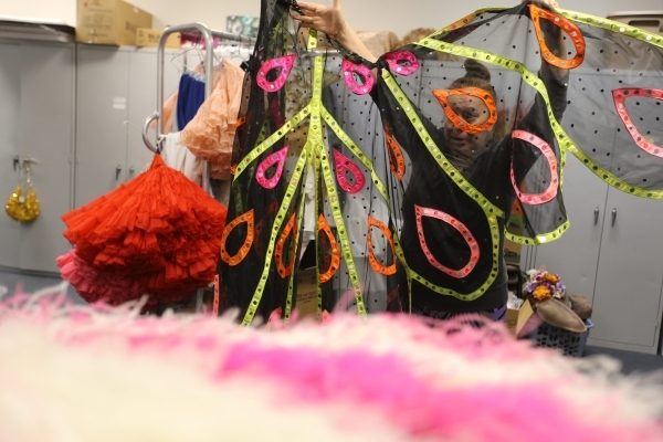 Stephanie Daniels, who instructs a class on costume design that works with the theater department, talks about how her class keeps students interested in coming to school in her classroom at Del S ...
