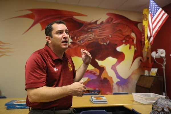Principal Greg Misel talks about new programs at at Del Sol High School in Las Vegas on Thursday, Oct. 15, 2015. Del Sol has seen double digit improvement in graduation rates. Brett LeBlanc/Las Ve ...