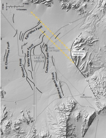 Las Vegas Valley earthquake faults  Source: United States Geological Survey