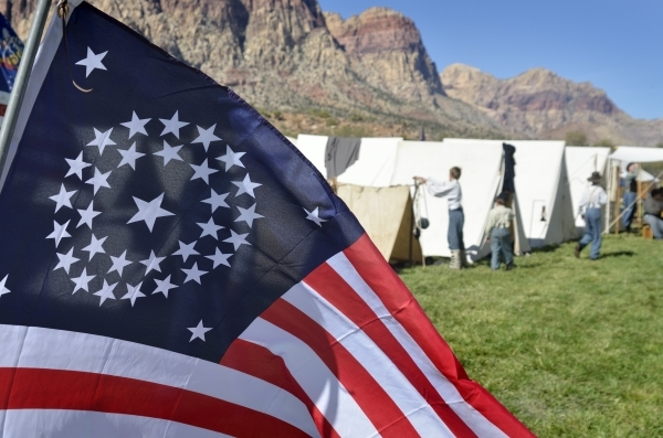 Part of the Union camp is shown at Spring Mountain Ranch State Park on Saturday, Oct. 24, 2015. (Bill Hughes/Las Vegas Review-Journal)