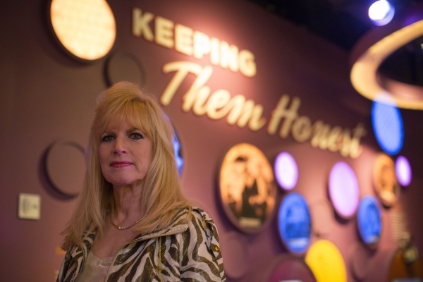 Deborah Richard, Las Vegas' first female FBI agent, poses on Friday, Oct. 23, 2015, at the Mob Museum in Las Vegas. Richard worked undercover for two years in 1977, gathering intelligence an ...