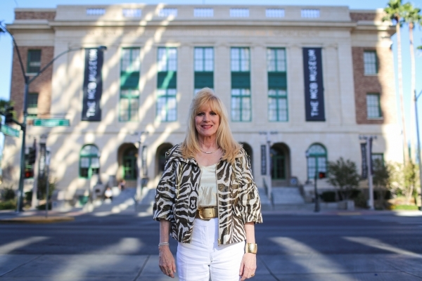 Deborah Richard, Las Vegas' first female FBI agent, poses on Friday, Oct. 23, 2015 at the Mob Museum in Las Vegas. Richard worked undercover for two years in 1977, gathering intelligence and ...