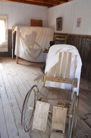 A bath scene at the old west town at Bonnie Springs Ranch is among the unintentionally creepy spots at the attraction. (Ginger Meurer/Special to View)