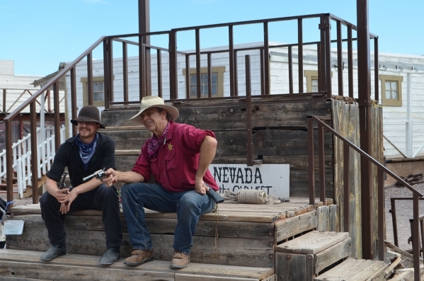 Ryan Carbajal, left, and Bill Miller disagree on the presence of ghosts at Bonnie Springs Ranch. (Ginger Meurer/Special to View)