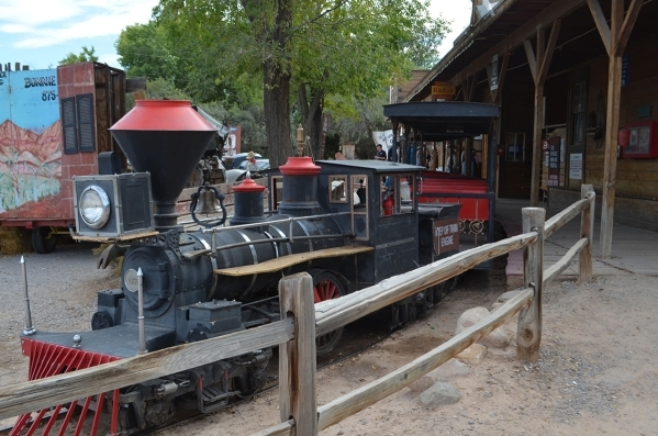 A train awaits passengers at Bonnie Springs Ranch. (Ginger Meurer/Special to View)