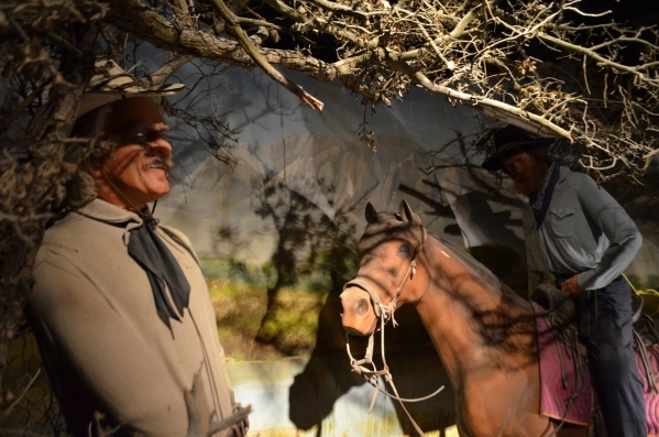 Kit Carson is visited by a man on horseback in the wax museum at Bonnie Springs Ranch. (Ginger Meurer/Special to View)
