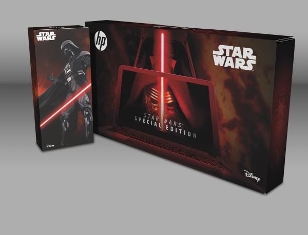 "Joining the array of products leading up to the new ""Star Wars"" movie Dec. 17, HP is offering a special edition notebook filled with content and artistic touches from the movies. (Courte ..."