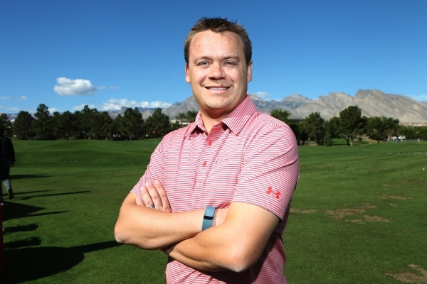 Patrick Lindsey, tournament director for the Shriners Hospitals for Children Open, poses for a portrait at TPC Summerlin in Las Vegas Tuesday, Oct. 20, 2015. Erik Verduzco/Las Vegas Review-Journal ...