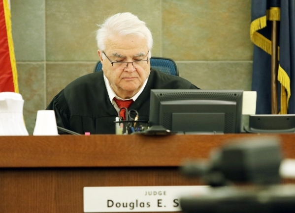 Judge Doug Smith presides over the Will Sitton and Jacqui Schafer trial Friday, Oct. 23, 2015, in Las Vegas. Ronda Churchill/Las Vegas Review-Journal