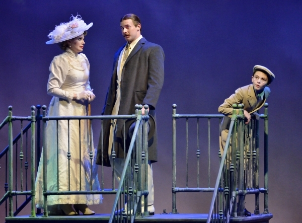 Kate Turner, as mother, left, Troy Bruchwalski, as father, center, and Colin Myers, as the little boy, perform in ìRagtimeî in Reynolds Hall at the Smith Center for the Performing Arts at 36 ...