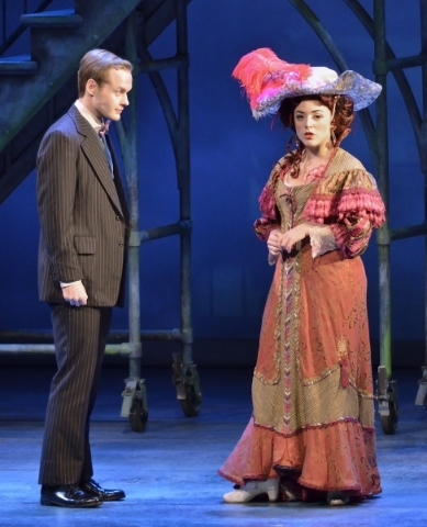 Donald Coggin, as motherís younger brother, left, and Jillian Van Niel, as Evelyn Nesbit, perform in ìRagtimeî in Reynolds Hall at the Smith Center for the Performing Arts at 361 Symphony ...