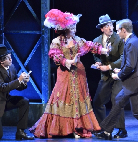 Jillian Van Niel, as Evelyn Nesbit, performs with other cast members in ìRagtimeî in Reynolds Hall at the Smith Center for the Performing Arts at 361 Symphony Park Ave. in Las Vegas on Tuesd ...