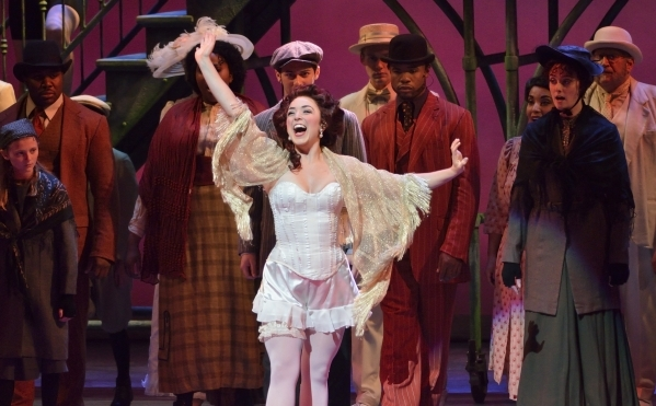 Jillian Van Niel performs as Evelyn Nesbit in ìRagtimeî at Reynolds Hall in the Smith Center for the Performing Arts at 361 Symphony Park Ave. in Las Vegas on Tuesday, Oct. 27, 2015. Bill Hu ...