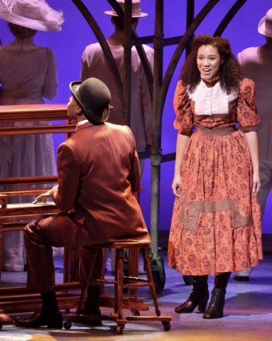 Chris Sams, as Coalhouse Walker Jr., left, and Leslie Jackson, as Sarah, perform in ìRagtimeî in Reynolds Hall at the Smith Center for the Performing Arts at 361 Symphony Park Ave. in Las Ve ...