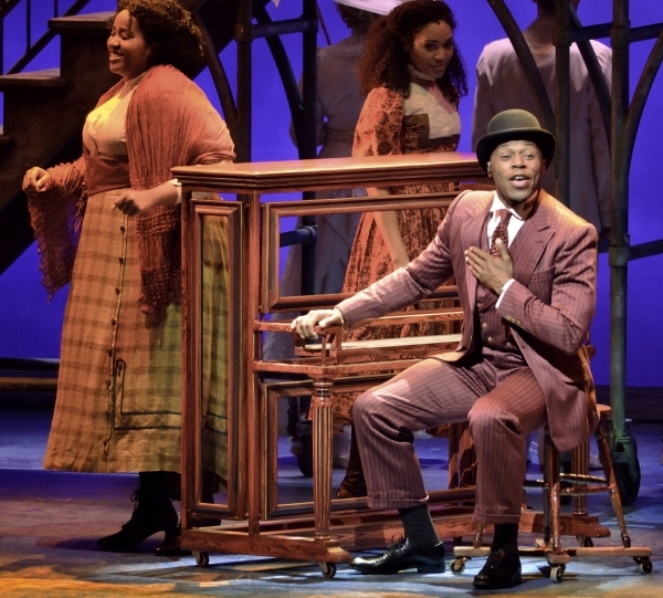 Chris Sams, as Coalhouse Walker Jr., performs in ìRagtimeî in Reynolds Hall at the Smith Center for the Performing Arts at 361 Symphony Park Ave. in Las Vegas on Tuesday, Oct. 27, 2015. Bill ...