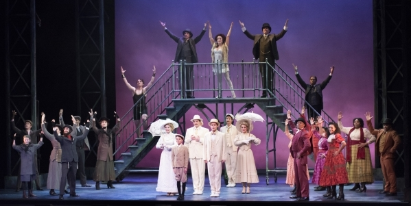 Cast members from ìRagtimeî perform at Reynolds Hall in the Smith Center for the Performing Arts at 361 Symphony Park Ave. in Las Vegas on Tuesday, Oct. 27, 2015. Bill Hughes/Las Vegas Revie ...