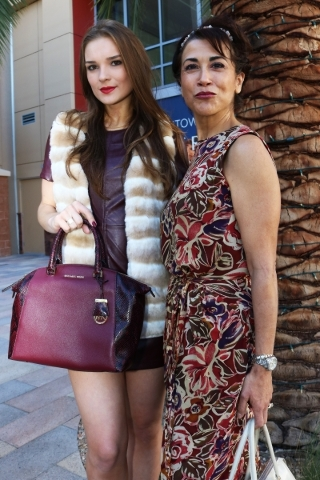 Katielle Nietzke wearing Vince Camuto leather dress, Calvin Klein faux fur vest and Michael Kors handbag provided by Dillard's and make-up artist Suzanna Corral DeKeyser at Downtown Summerli ...