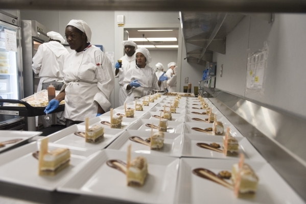 Lemon Cake Delight is seen during the 40th graduation ceremony for The Salvation Army's Lied Vocational Program at Russell's Restaurant at College of Southern Nevada Cheyenne campus in ...