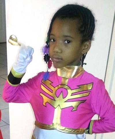 Brazyl Monique Ward, 6, is shown in her Halloween costume in this Facebook photo. She was hit by a car on Peace Way near Tenaya Way on Halloween night in 2013. Courtesy, Facebook