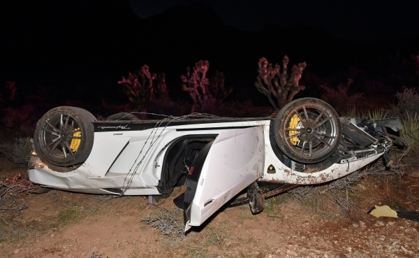 Exceptional The Wreckage Of A Rented 2012 Lamborghini Gallardo Spyder Is Seen After It  Landed Upside Down