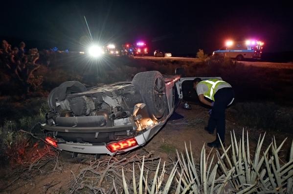 No Serious Injuries After Rented Lamborghini Crashes In Red Rock U2013 Las Vegas  Review Journal