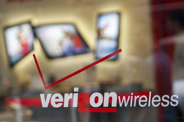 The entrance to a Verizon wireless store is seen in New York, May 12, 2015.  (Reuters/Shannon Stapleton)