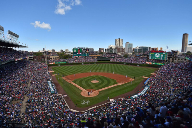 An over all view at Wrigley Field during the game between the Chicago Cubs and the St. Louis Cardinals. Sep 19, 2015; Chicago, IL, USA;  (Jasen Vinlove/USA Today Sports)
