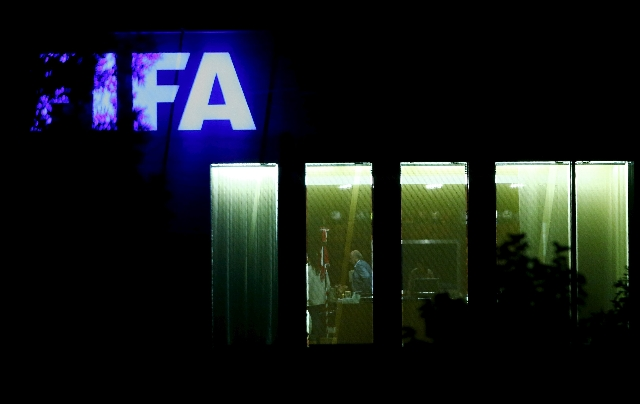 FIFA President Sepp Blatter stands in an office at the FIFA headquarters after a meeting of the FIFA executive committee in Zurich, Switzerland September 25, 2015. (Arnd Wiegmann/Reuters)