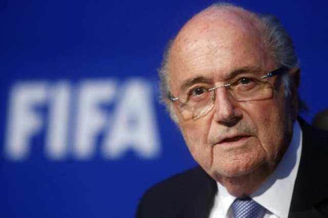 FIFA President Sepp Blatter speaks during a news conference after the Extraordinary FIFA Executive Committee Meeting at the FIFA headquarters in Zurich, Switzerland July 20, 2015. (Arnd Wiegmann/R ...