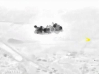 A frame grab taken from footage released by Russia's Defence Ministry October 2, 2015, shows smoke rising after airstrikes carried out by the Russian air force in Maarat al-Numan in Syria.   ...
