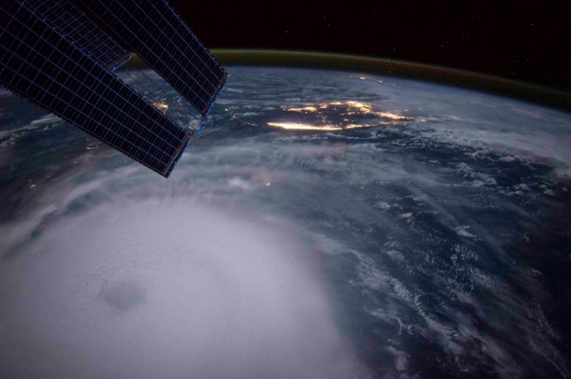 Hurricane Joaquin is seen over the Bahamas in this handout photo provided by NASA and taken by Astronaut Scott Kelly from the International Space Station, September 2, 2015. (Scott Kelly/NASA/Hand ...