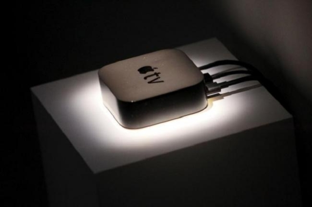 The new Apple TV is displayed during an Apple media event in San Francisco, California, September 9, 2015. (Reuters/Beck Diefenbach)
