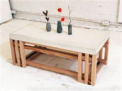 Create inspiring home décor with a DIY concrete coffee table